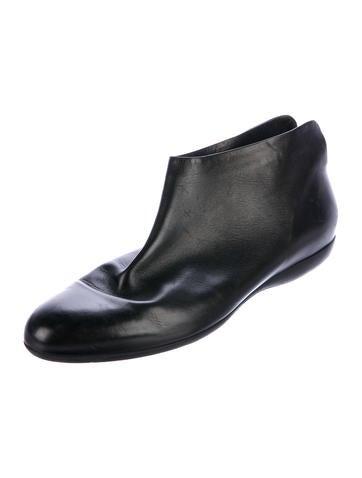 100% guaranteed sale online Salvatore Ferragamo x Yohji Yamamoto Leben Leather Booties buy cheap best wholesale Q1MKNC383G
