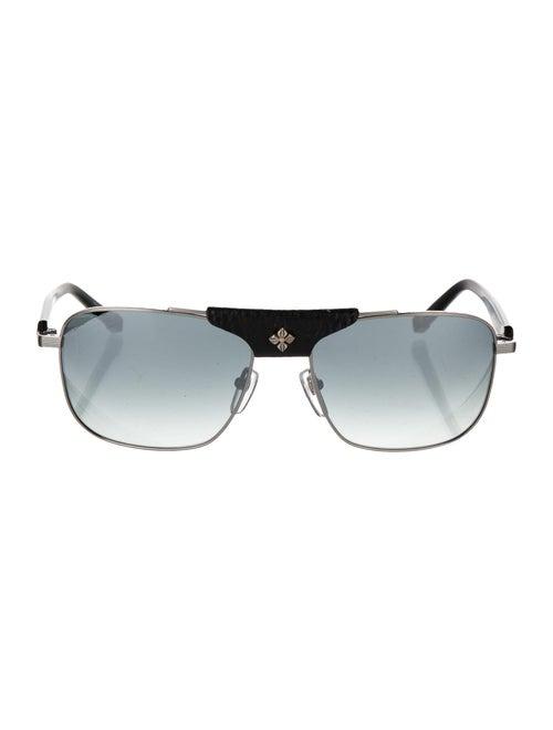 Shamballa Evil Eye Aviator Sunglasses Black