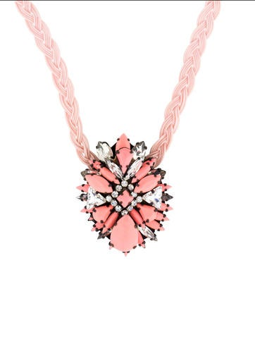 Shourouk Ikat Rose Necklace None