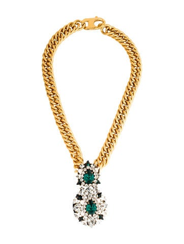 Shourouk Crystal Pendant Necklace None