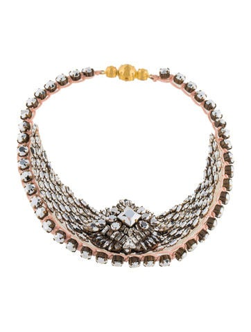 Shourouk Crystal Collar Necklace None