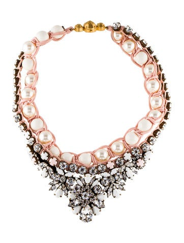 Shourouk Theresa Faux Pearl & Crystal Collar Necklace None