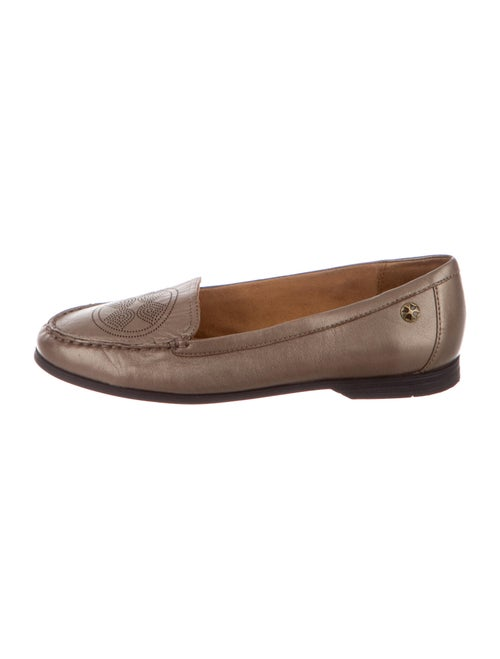 Shoes Leather Loafers Gold