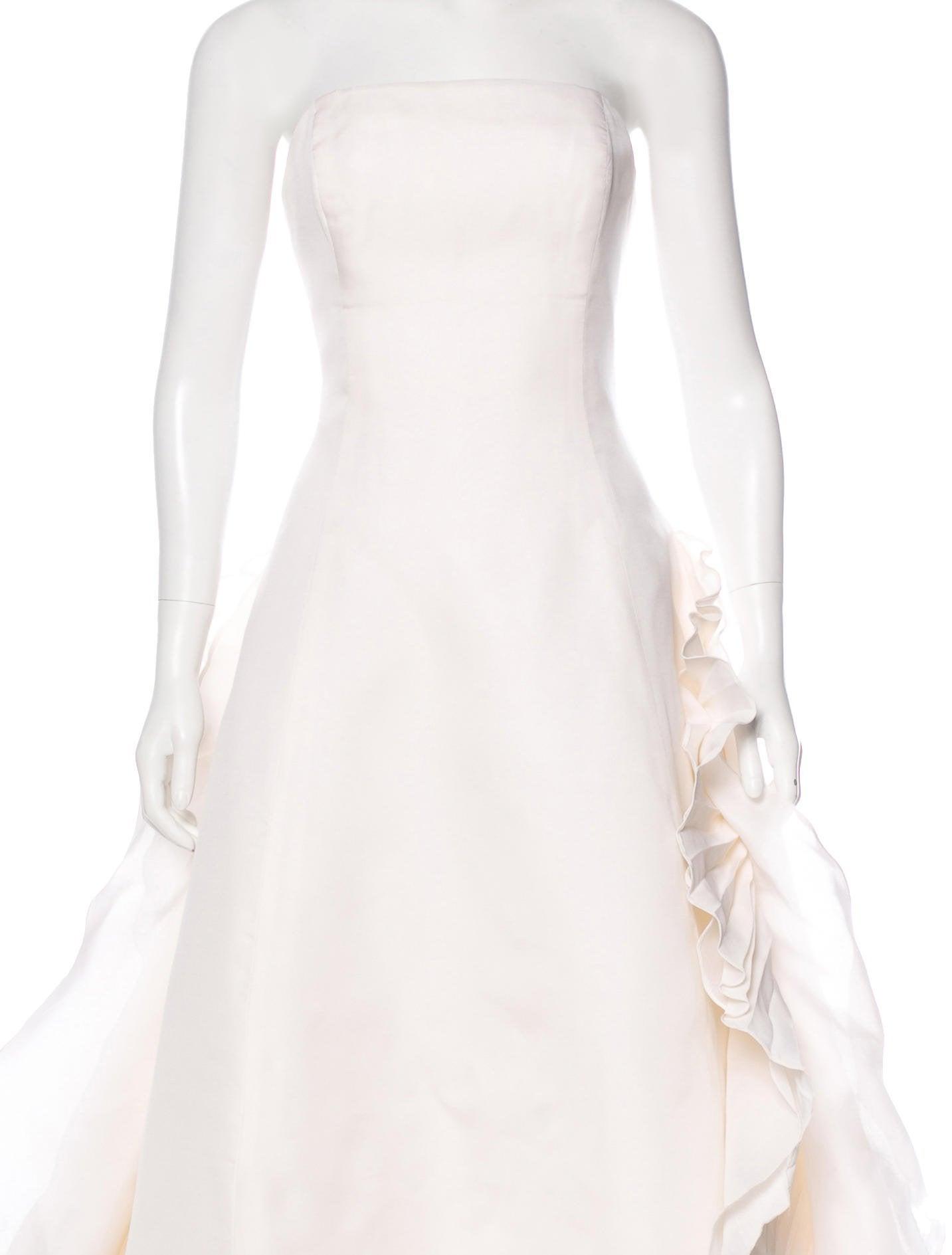 Angel Sanchez Strapless Silk Wedding Gown - Clothing - SHZ20089 ...