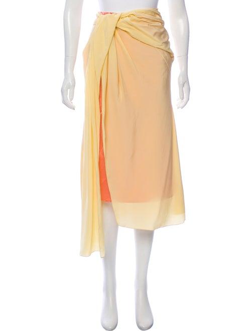 Sies Marjan Wrap Maxi Skirt Yellow
