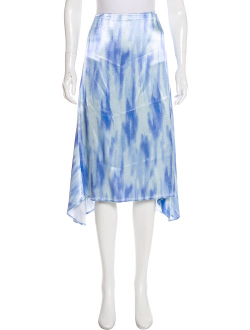 Sies Marjan Satin Midi Skirt Blue