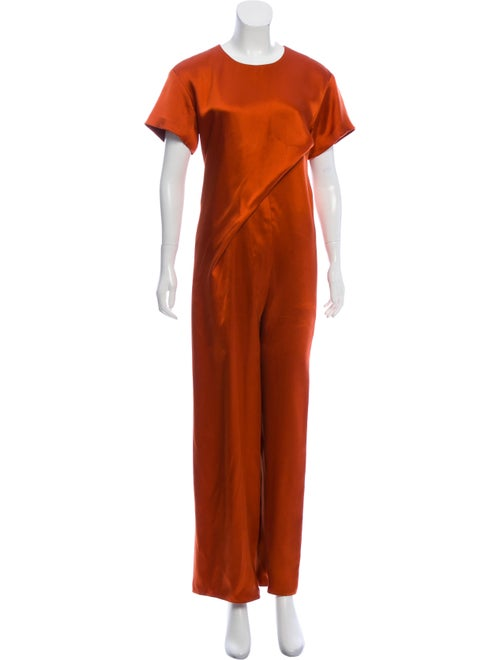 Sies Marjan Short-Sleeve Crew Neck Jumpsuit Orange
