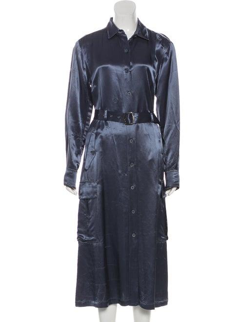 Sies Marjan Long Sleeve Satin Dress w/ Tags Grey