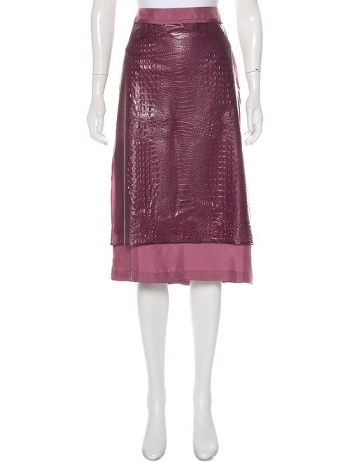 Sies Marjan Textured Midi Skirt w/ Tags Purple
