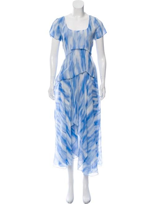 Sies Marjan Silk Printed Maxi Dress blue