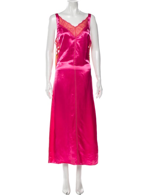 Sies Marjan V-Neck Long Dress w/ Tags Pink