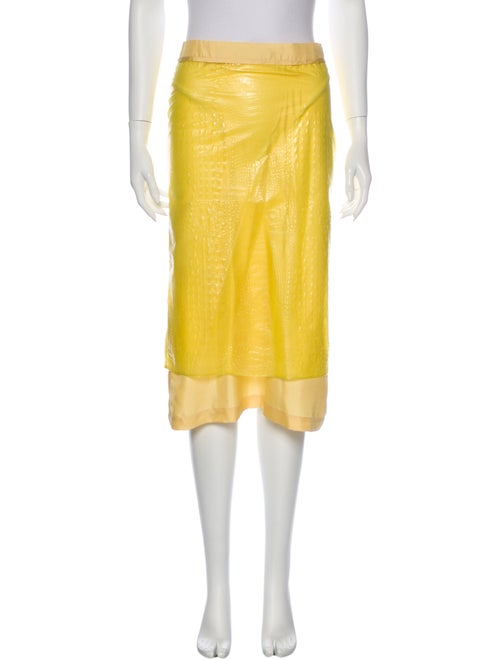 Sies Marjan Midi Length Skirt Yellow