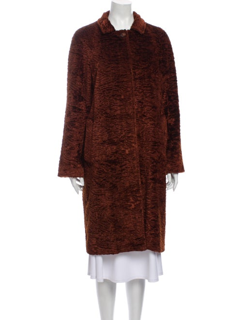 Sies Marjan Faux Fur Coat Brown