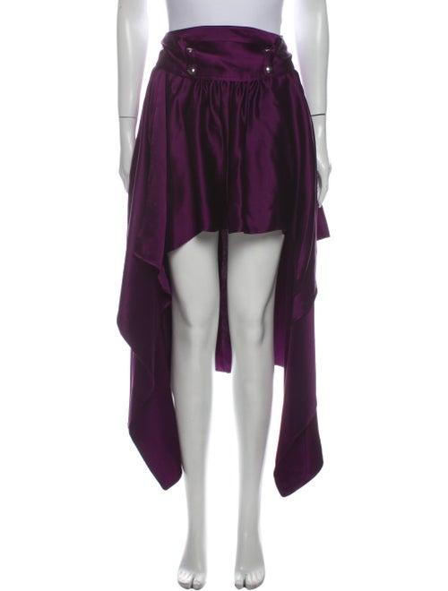 Sies Marjan Silk Midi Length Skirt Purple