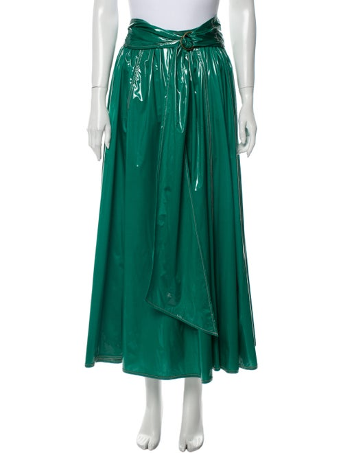 Sies Marjan Pleated Accents Long Skirt Green