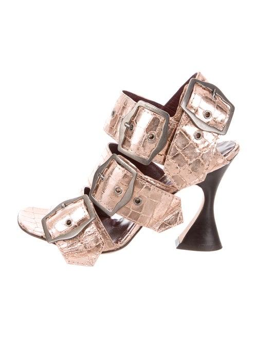 Sies Marjan Leather Sandals Metallic