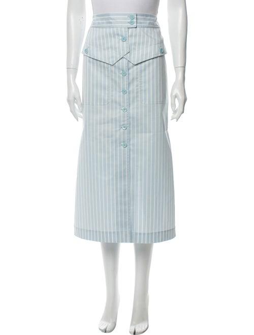 Sies Marjan Striped Midi Length Skirt Blue