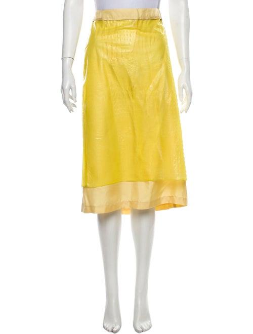 Sies Marjan Knee-Length Skirt Yellow