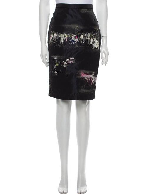 Sies Marjan Printed Knee-Length Skirt Black
