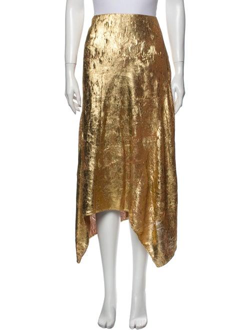 Sies Marjan Midi Length Skirt Gold