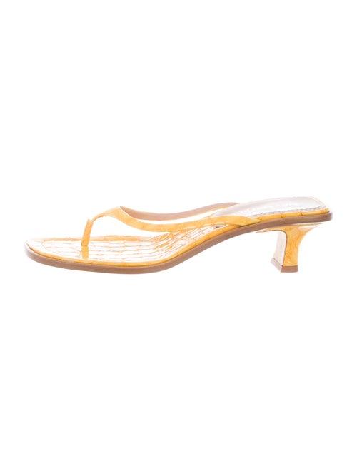 Sies Marjan Leather Slides Yellow