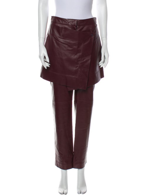 Sies Marjan Leather Straight Leg Pants w/ Tags Red