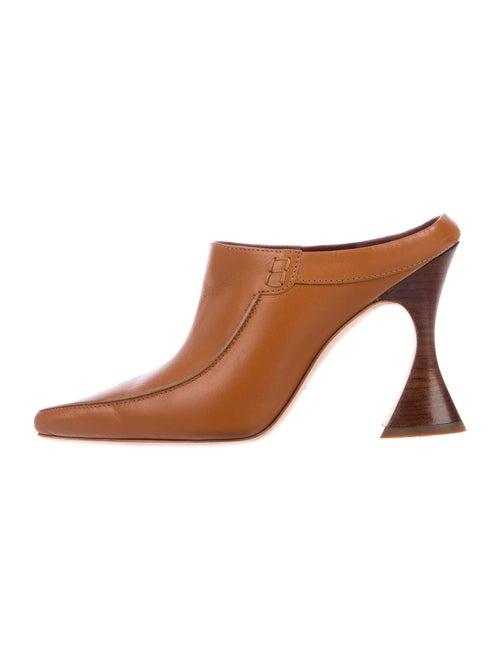 Sies Marjan Leather Mules Brown