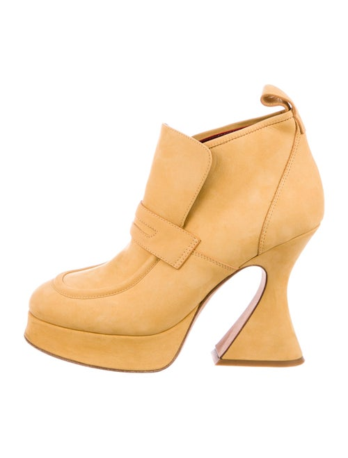 Sies Marjan Suede Boots Yellow