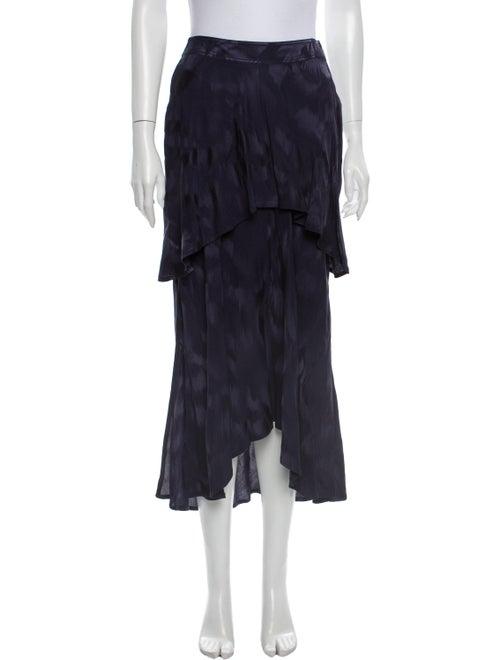 Sies Marjan Printed Midi Length Skirt Blue