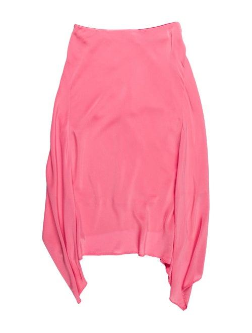 Sies Marjan Silk Midi Length Skirt Pink