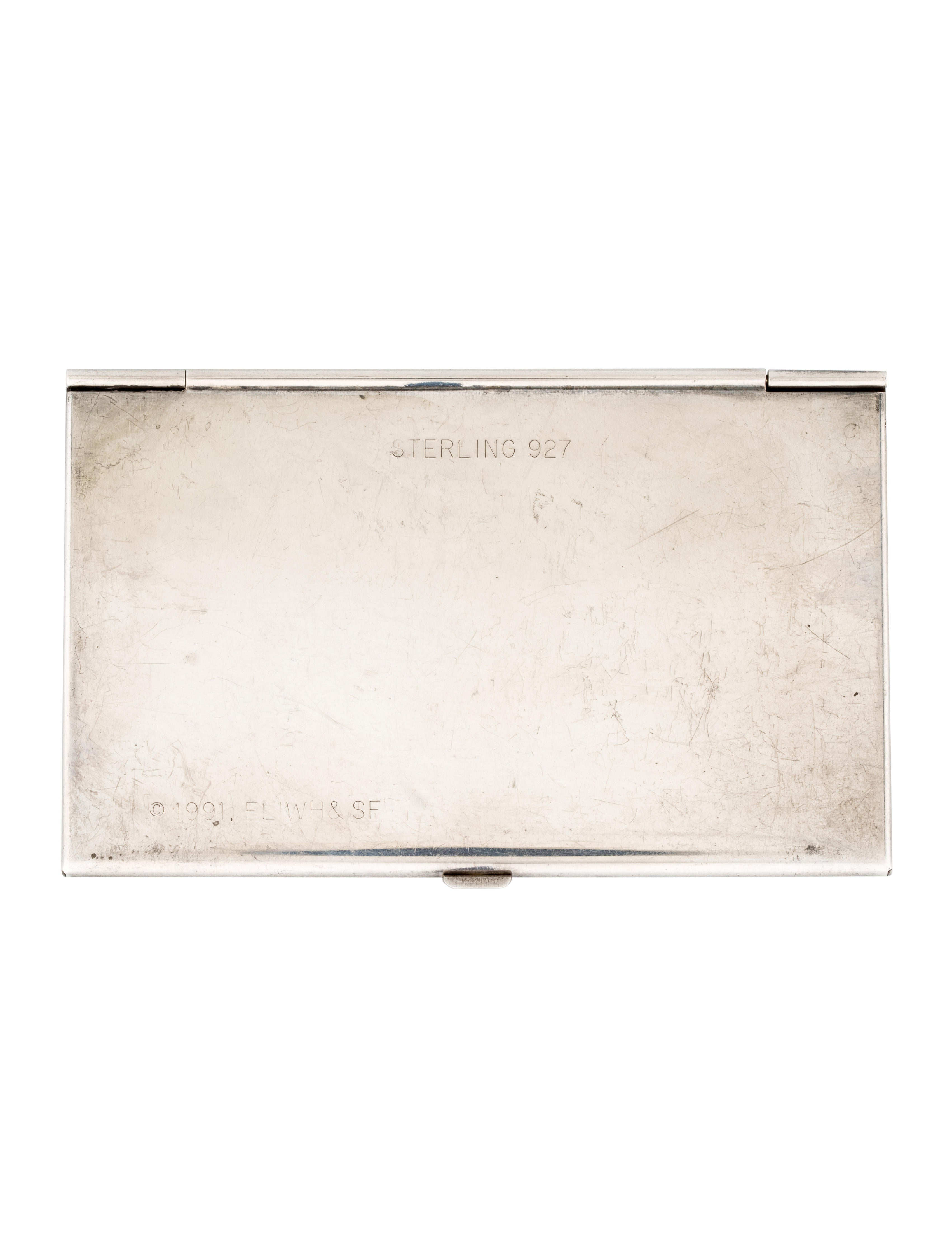 Sterling Silver Engraved Business Card Holder - Decor And ...