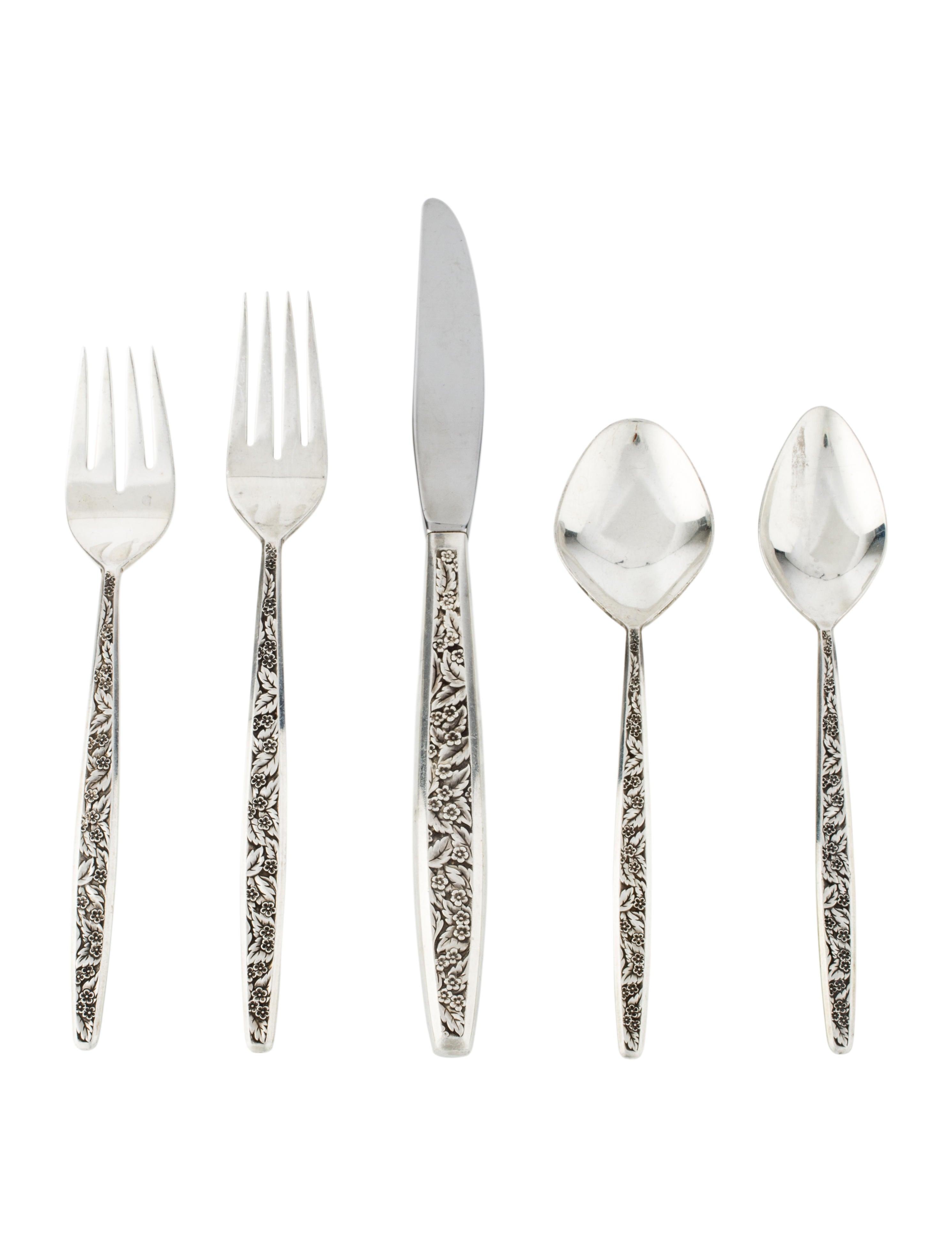 Sterling Silver Flatware International Valencia Regular Fork