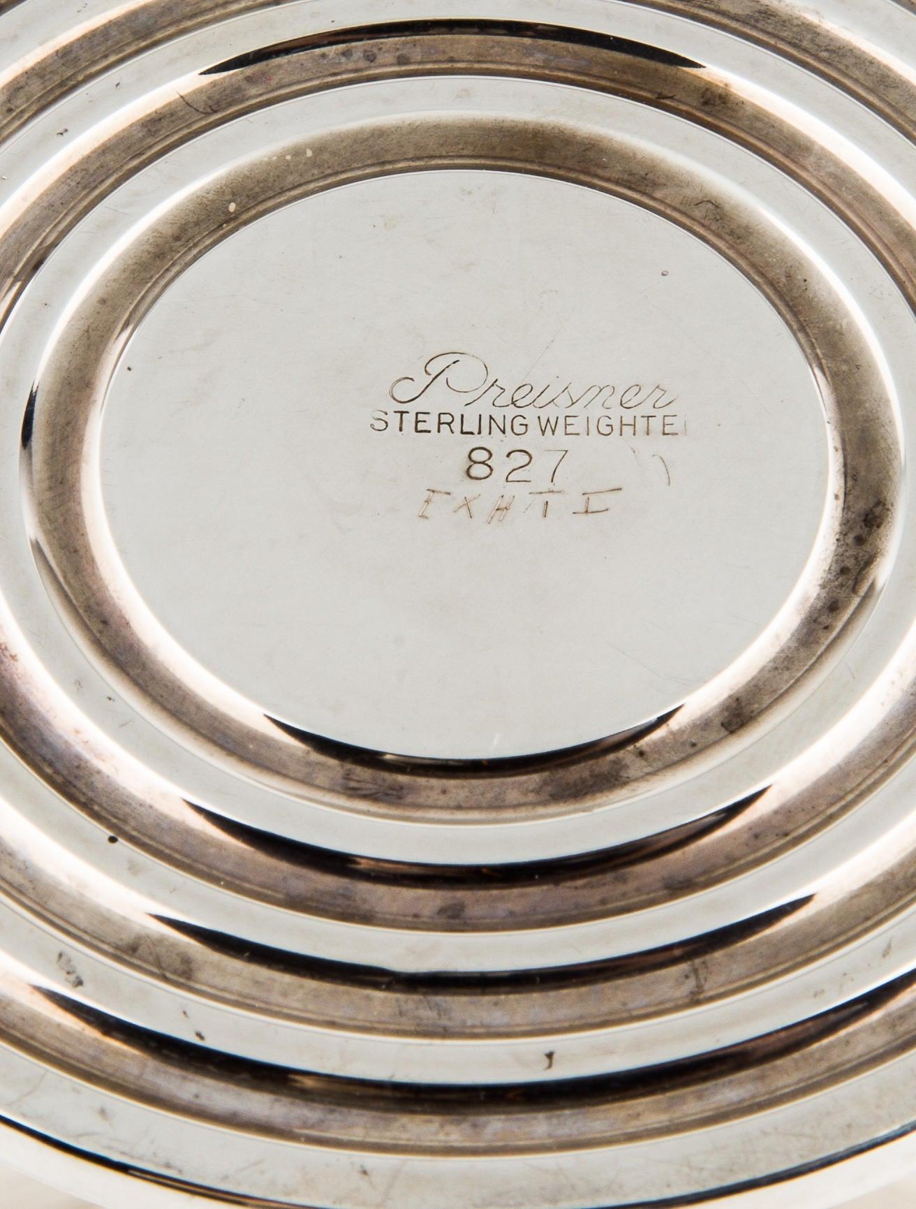 Sterling silver preisner compote decor and accessories for Artistic accents genuine silver decoration