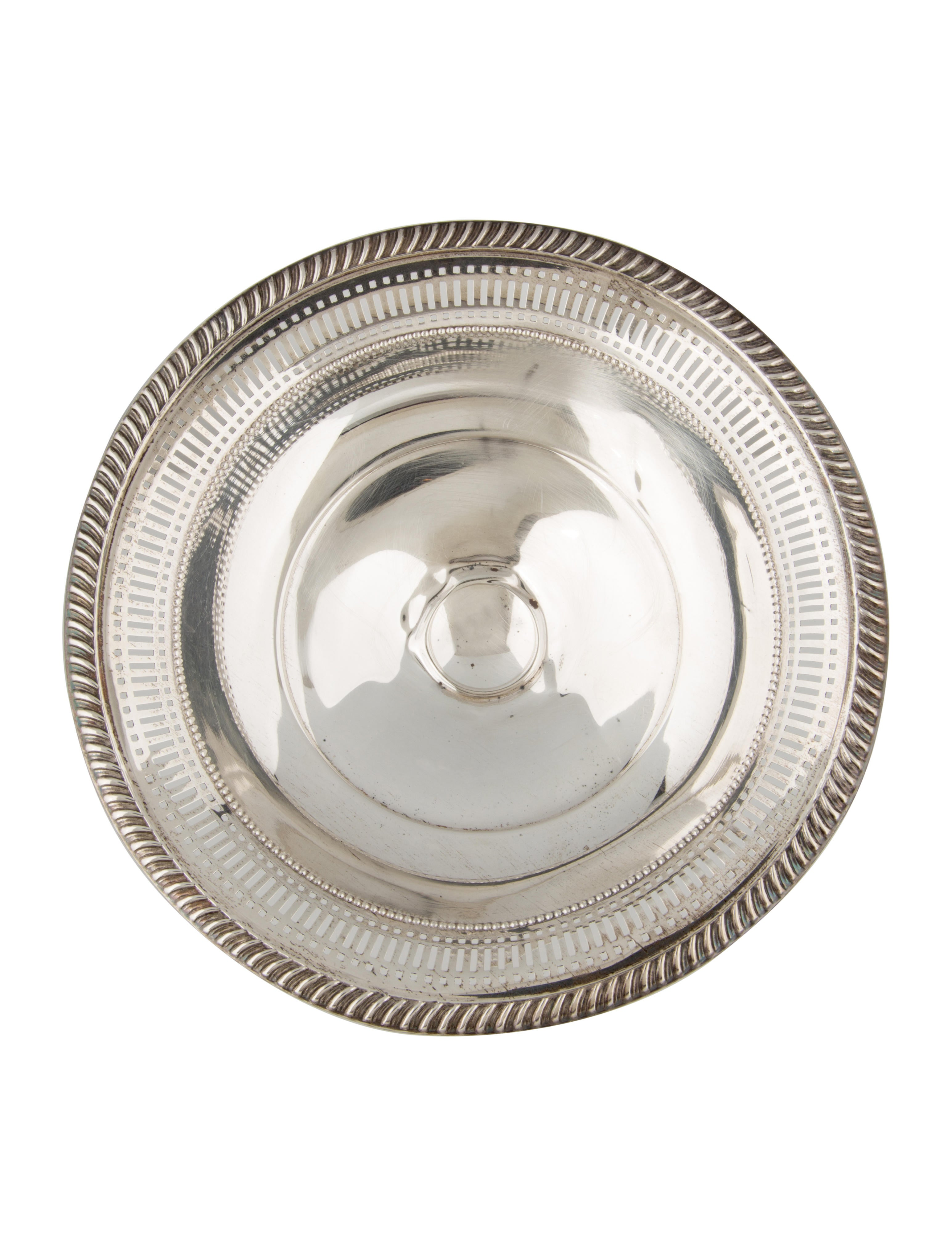 Sterling silver fisher pierced compote decor and for Artistic accents genuine silver decoration