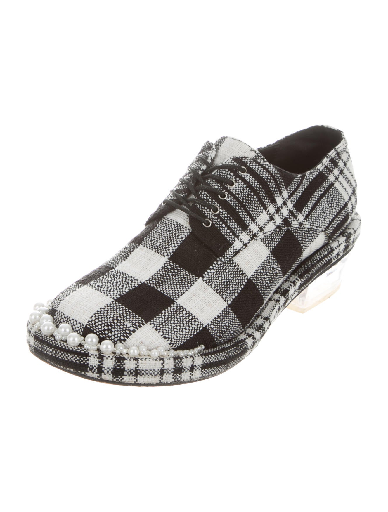 new for sale Simone Rocha Embellished Plaid Oxfords pay with visa for sale buy cheap cost cheap find great 3jzQGyIC2L