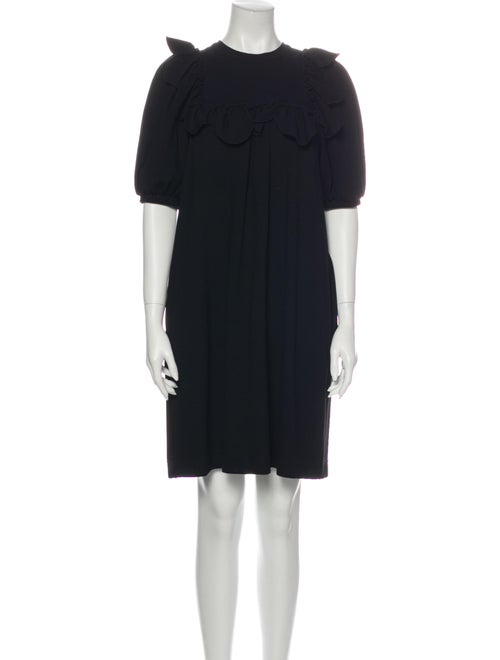 Simone Rocha Crew Neck Mini Dress Black
