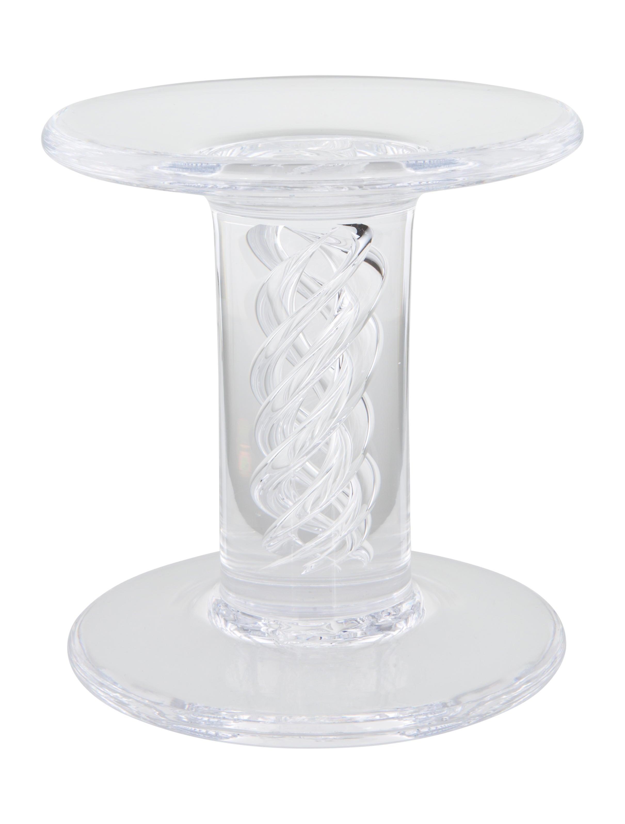 simon pearce swirl glass pillars decor and accessories