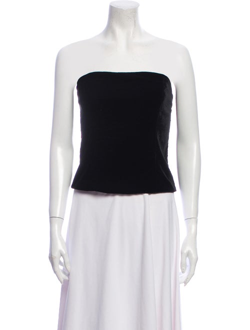 St John Evening Strapless Crop Top Black