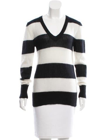 Skaist-Taylor Mohair-Blend Striped Sweater None