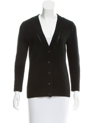 Skaist-Taylor Rib Knit Button-Up Cardigan None