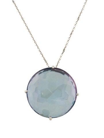 Suzanne kalan 14k aqua aura pendant necklace necklaces skn20038 14k aqua aura pendant necklace aloadofball Images