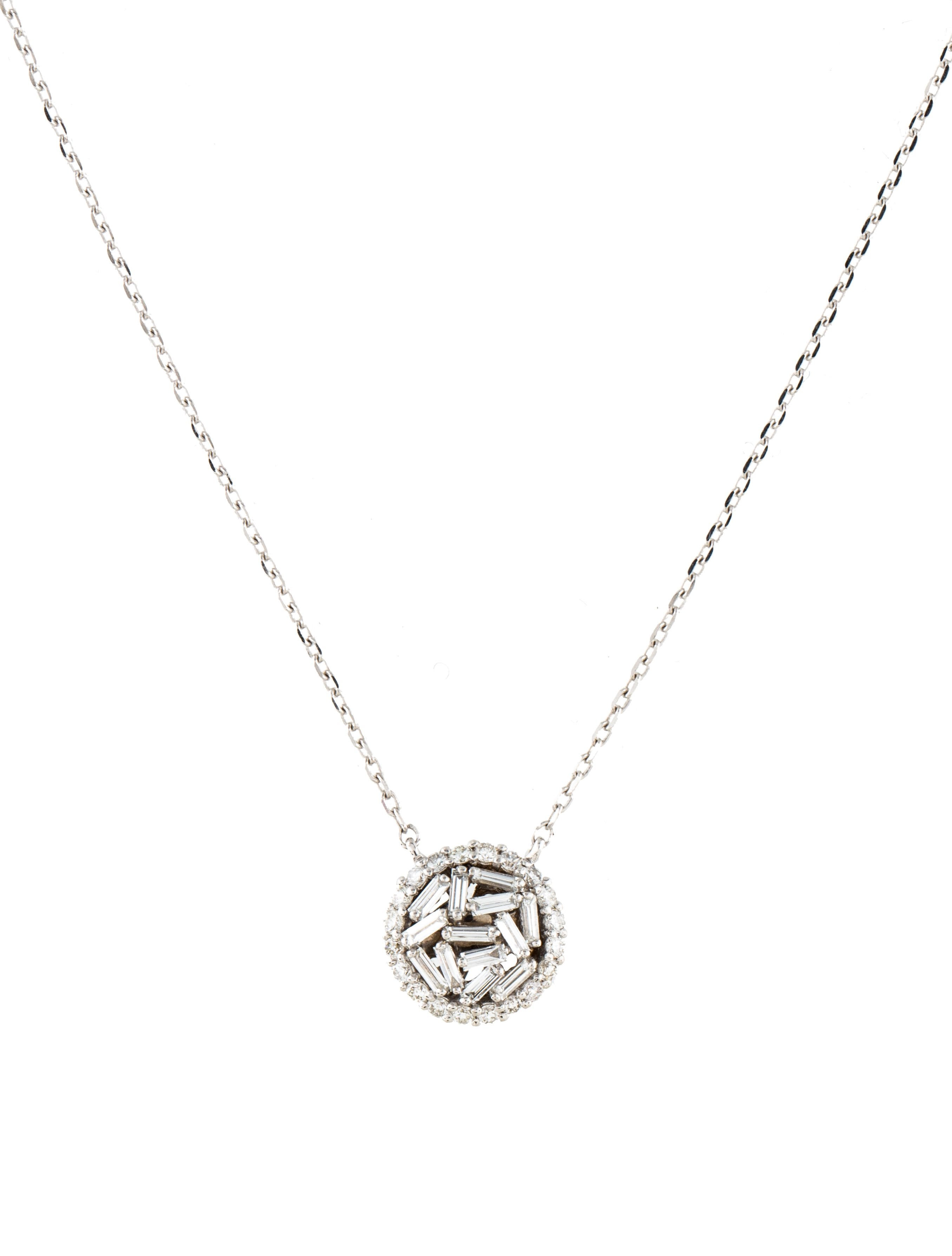 Suzanne kalan 18k diamond circle pendant necklace necklaces 18k diamond circle pendant necklace aloadofball Choice Image