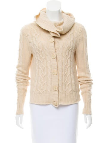 Saks Fifth Avenue Button-Up Cashmere Cardigan None