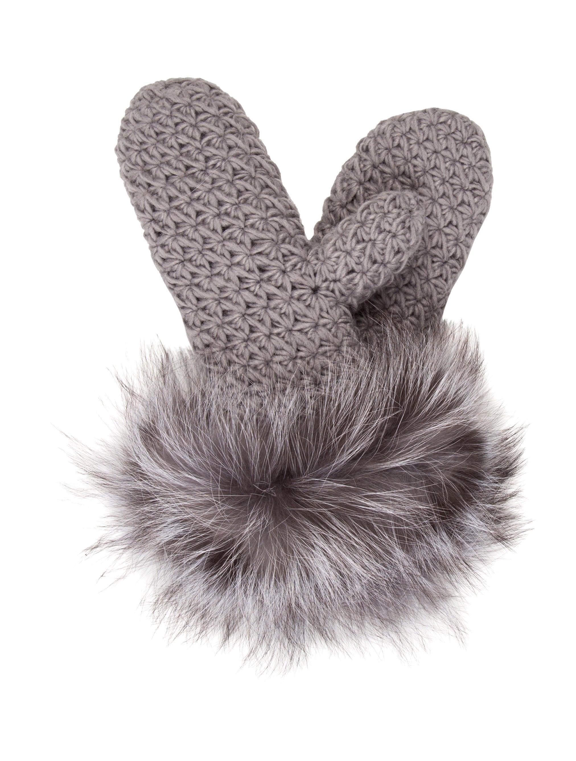 5d719a43632 Saks Fifth Avenue Fur Knit Mittens w  Tags - Accessories - SKS20929 ...