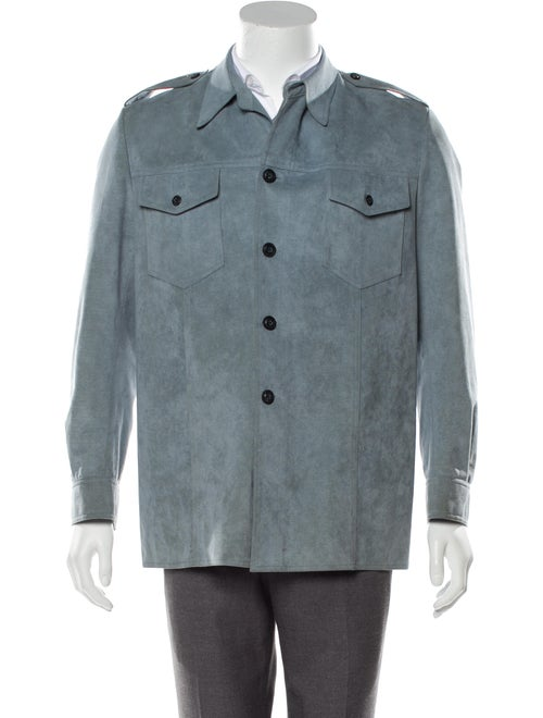 Saks Fifth Avenue Button-Up Field Jacket blue