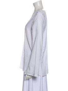 Saks Fifth Avenue V-Neck Long Sleeve Blouse w/ Tags