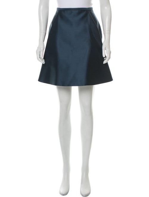 Sally LaPointe Wool-Blend Mini Skirt