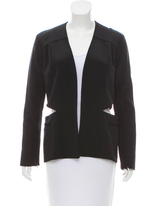 Sally LaPointe Open-Front Jacket Black