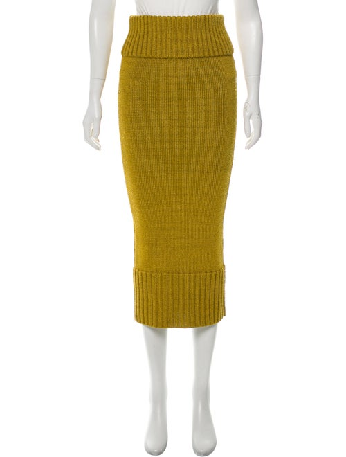 Sally LaPointe Knit Midi Skirt