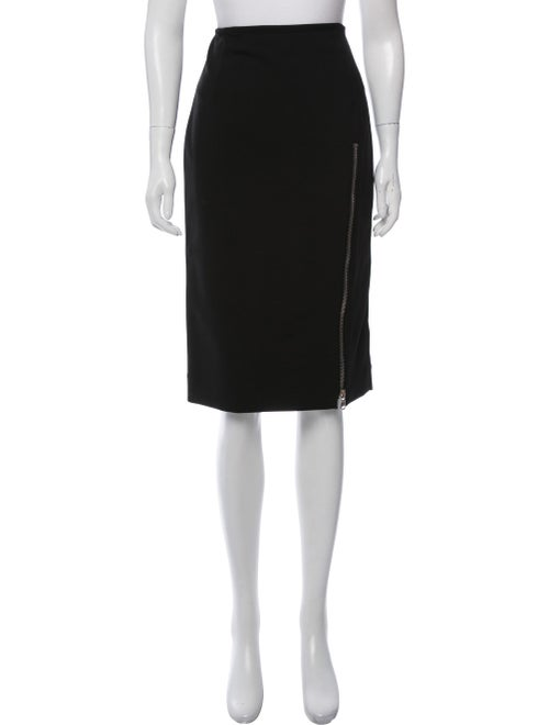 Sally LaPointe Knee-Length Pencil Skirt Black